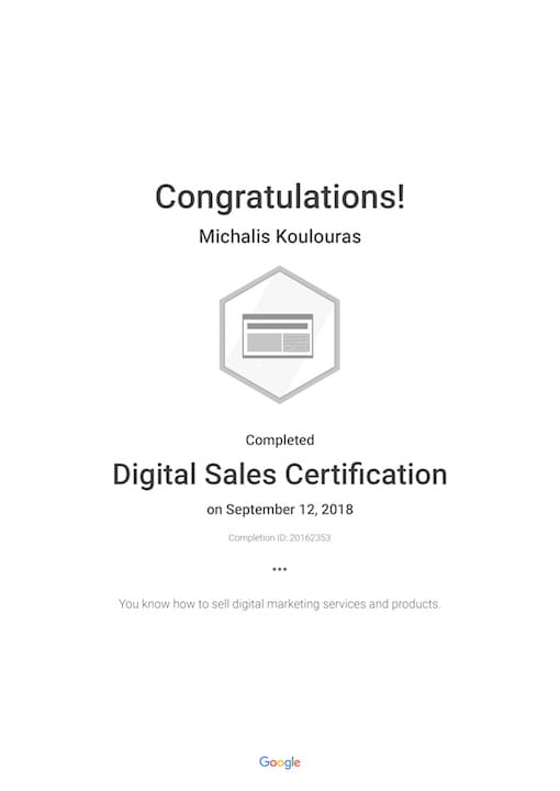 Google Certification | Digital Sales