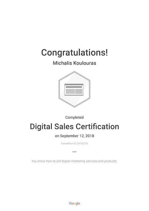 Google Certification | Digital Sales