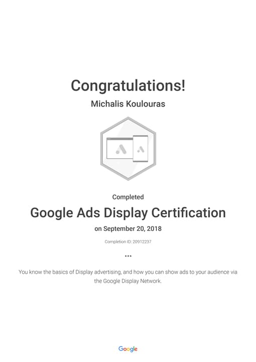 Google Certification | Google Ads Display