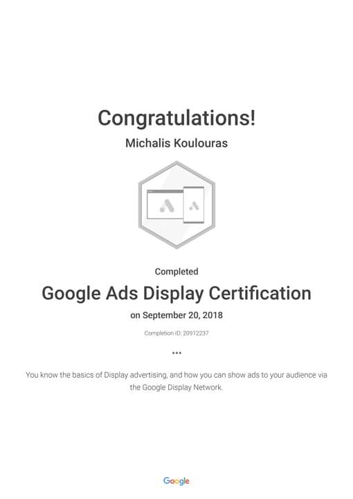 Google Certification | Google Ads Display