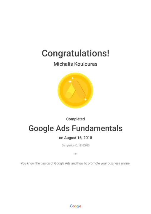 Google Certification | Google Ads Fundamentals
