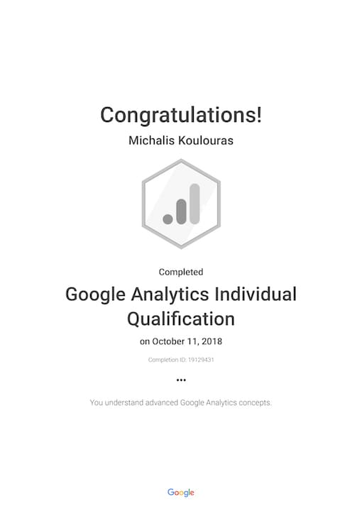 Google Certification | Google Analytics