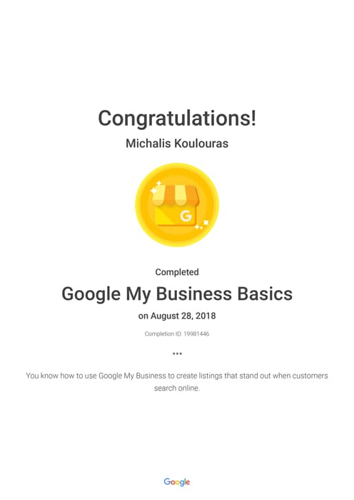 Google Certification | Google My Business