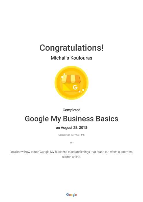 Google Certification | Google My Business