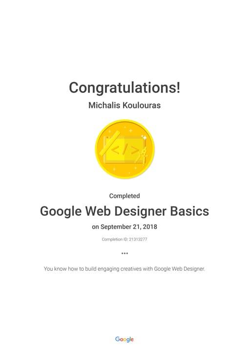 Google Certification | Google Web Designer
