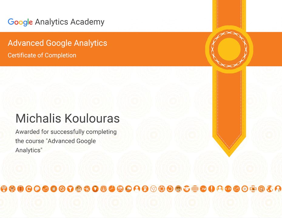 Google Certification | Google Analytics Advanced