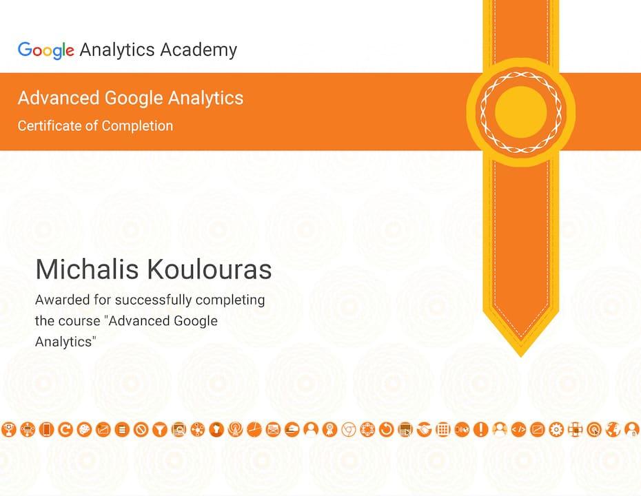 Google Certification | Google Analytics Advanced