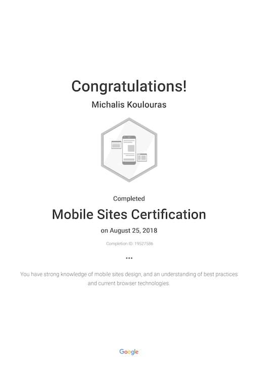 Google Certification | Mobile Sites